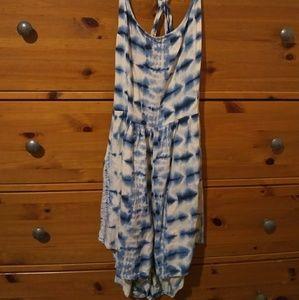 NWOT O'Neill low back tie dye romper